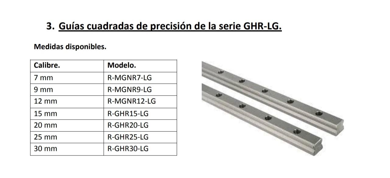 Guía lineal de precisión