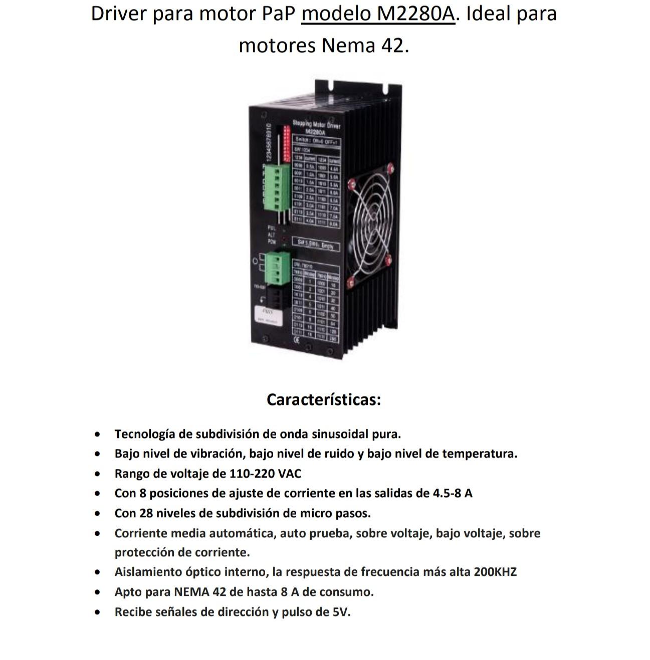 Driver Motor a Pasos Nema 42